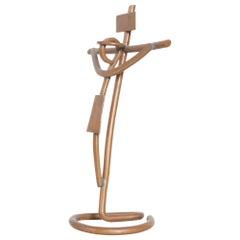 Mathias Goeritz Abstract Prayer Art Sculptural Crucifix Cross in Copper & Silver