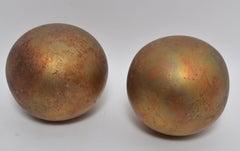 Vintage Mid Century Gold Leaf Spheres by Mathias Goeritz