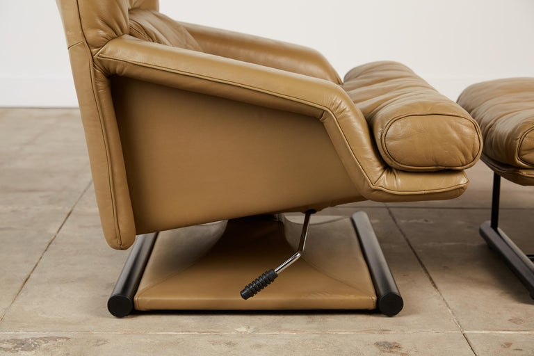 Mathias Hoffmann for Rolf Benz Leather Lounge Chair and Ottoman For Sale 4