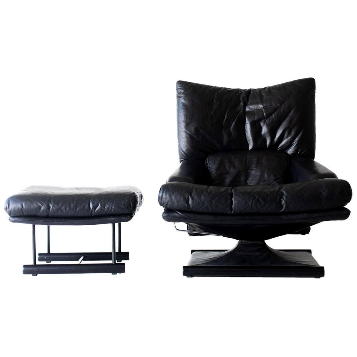 Mathias Hoffmann Lounge Chair and Ottoman for Rolf Benz