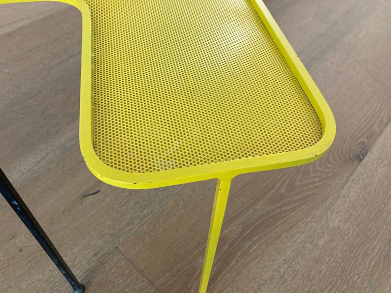French Mathieu Matégot Domino Tables, Black and Yellow, France For Sale