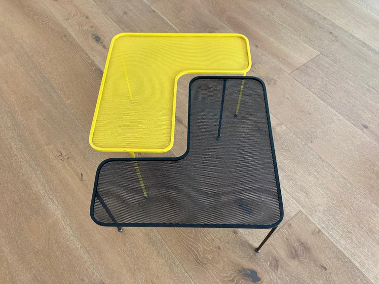 Mathieu Matégot Domino Tables, Black and Yellow, France For Sale 2