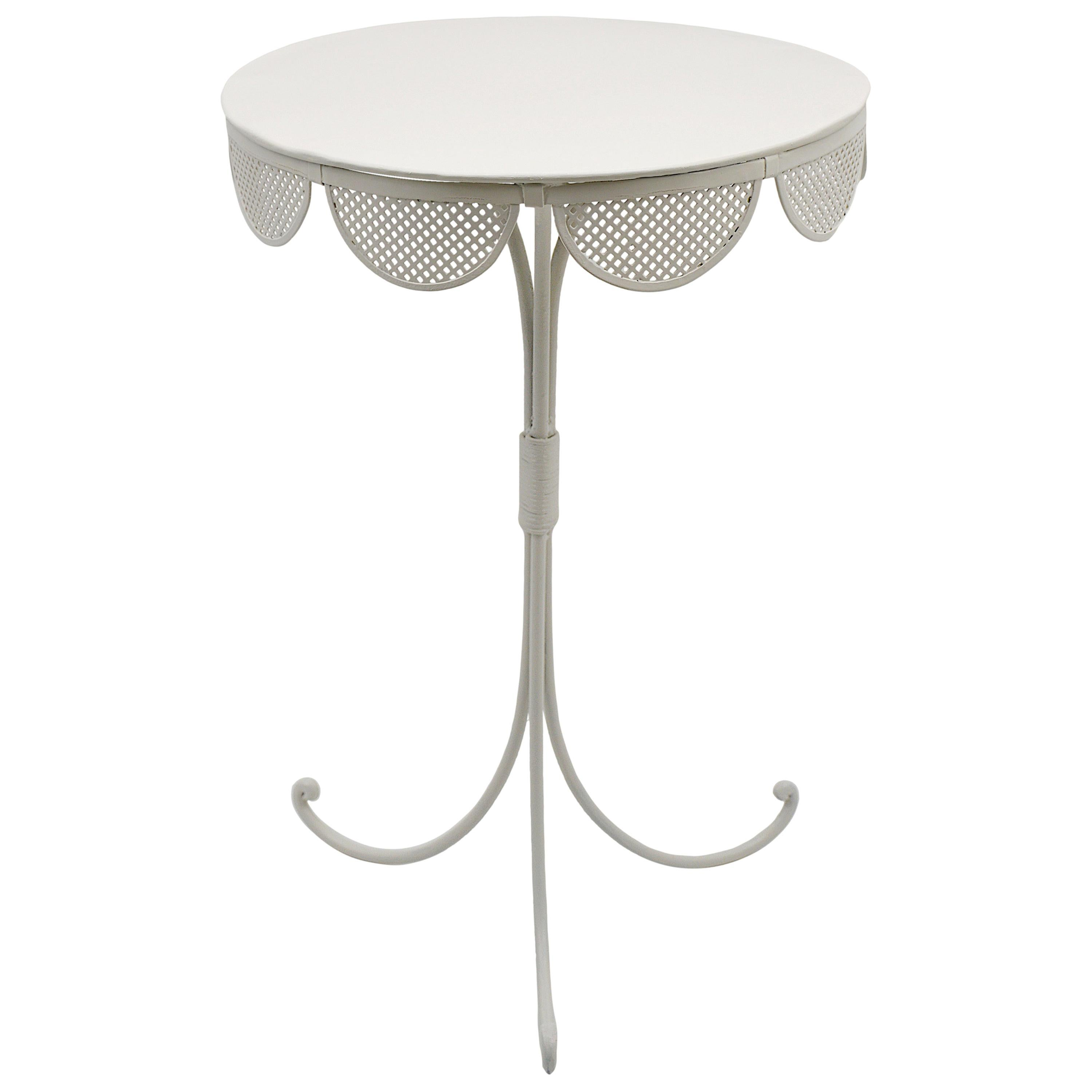 Mathieu Matégot French Midcentury Small Table, 1950s