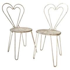 Mathieu Matégot Metal Heart Chairs
