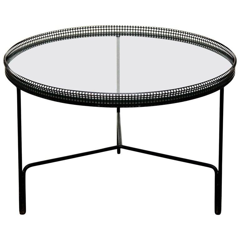 Remarkable Mathieu Mategot Mid Century Modern Black Metal And Glass Coffee Table Inzonedesignstudio Interior Chair Design Inzonedesignstudiocom
