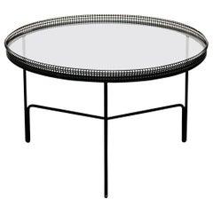 Mathieu Matégot Mid-Century Modern Metal and Glass Coffee Table, circa 1950