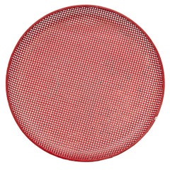 Mathieu Mategot Mid-Century Modern Red Enameled Metal Plate, circa 1950