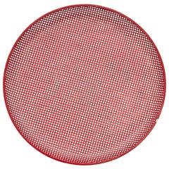 Mathieu Matégot Mid-Century Modern Red Enameled Metal Plate, circa 1950