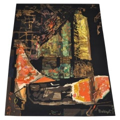 "Mathieu Matégot ""Nocturne"" Abstract Wool Tapestry, circa 1970"