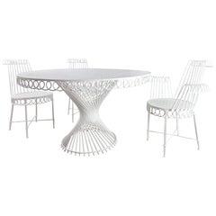 Mathieu Mategot, Outdoor Dining Set, 1950s