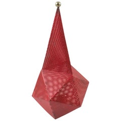 Mathieu Mategot Red Metal Baghdad Lamp