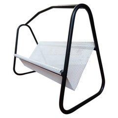Mathieu Mategot Retro Black / White Vintage 1960 Magazine Rack