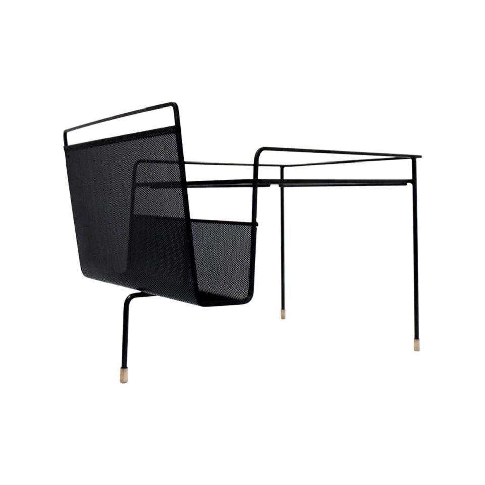 Mathieu Mategot Tripod Coffee Table / Magazine Rack