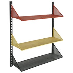 Mathieu Matégot Wall Shelf with Adjustable Shelves