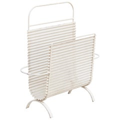 Mathieu Mategot White Magazine Holder, circa 1950