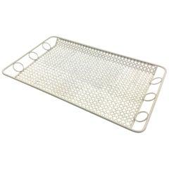 Mathieu Mategot White Metal Barware Tray