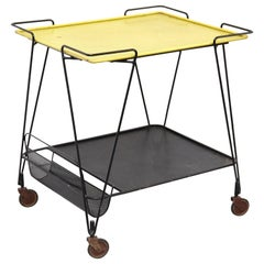 Mathieu Matégot Yellow and Black Trolley, circa 1950
