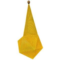 Mathieu Matégot Yellow Baghdad Lamp