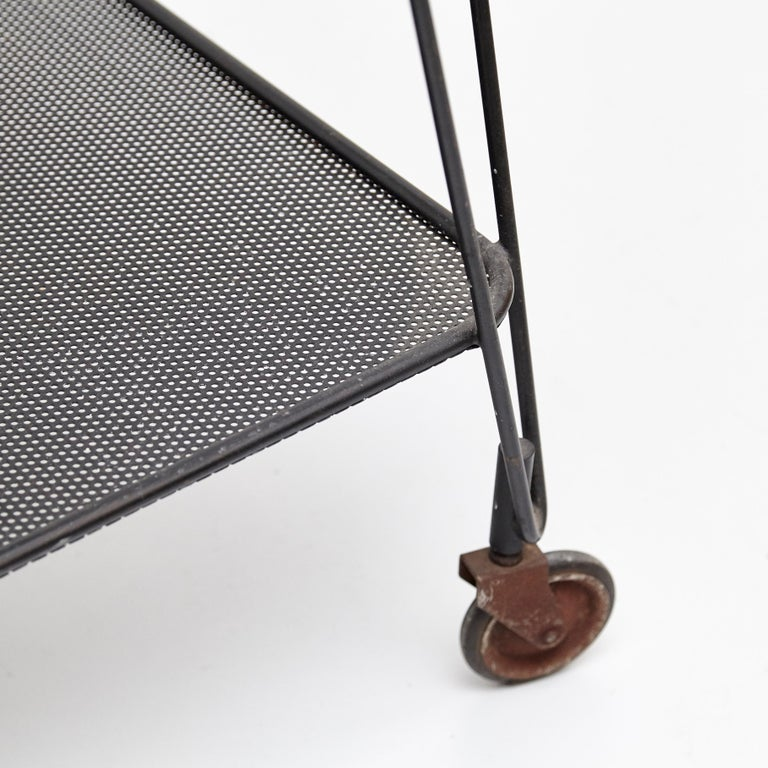 Mathieu Mategot Yellow and Black Trolley, circa 1950 For Sale 3