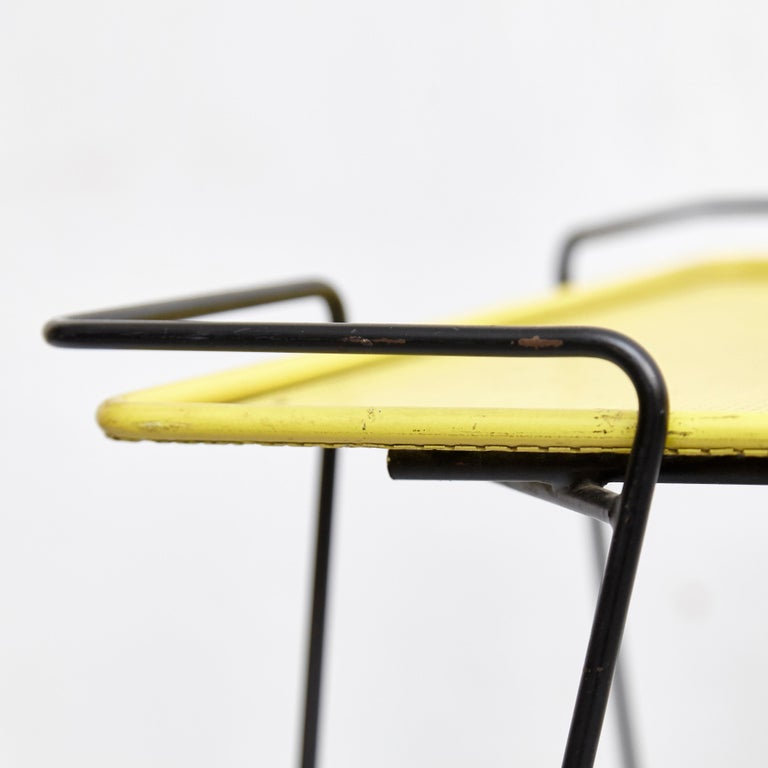 Mathieu Mategot Yellow and Black Trolley, circa 1950 For Sale 7