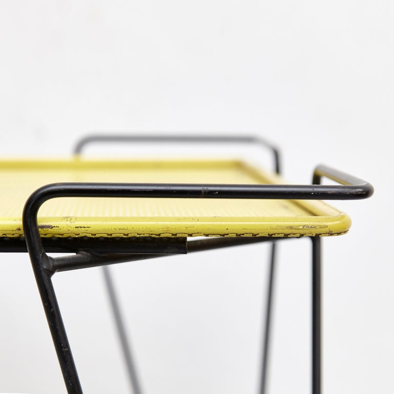 Mathieu Mategot Yellow and Black Trolley, circa 1950 For Sale 8