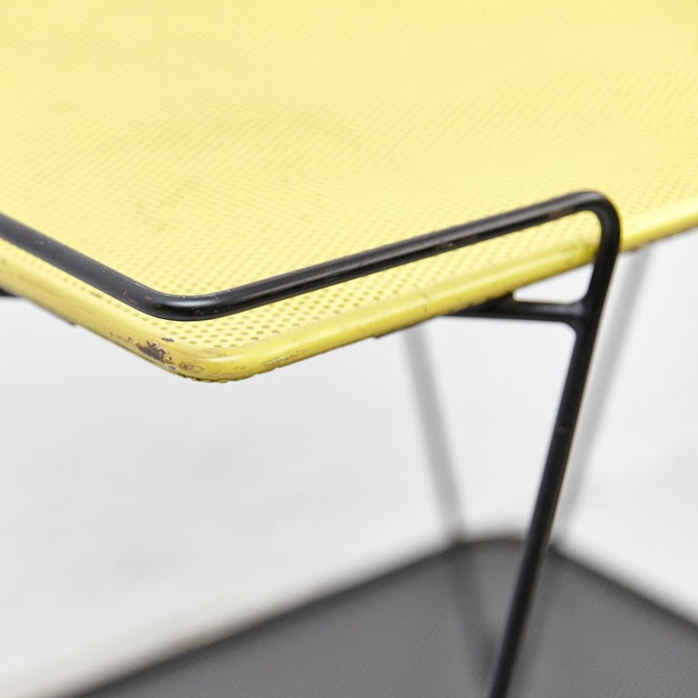 Mid-20th Century Mathieu Mategot Yellow and Black Trolley, circa 1950 For Sale