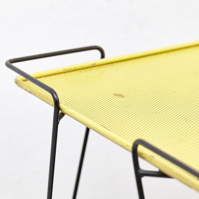 Metal Mathieu Mategot Yellow and Black Trolley, circa 1950 For Sale