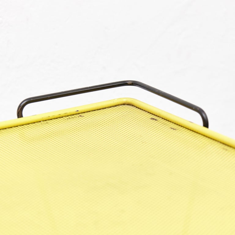 Mathieu Mategot Yellow and Black Trolley, circa 1950 For Sale 1