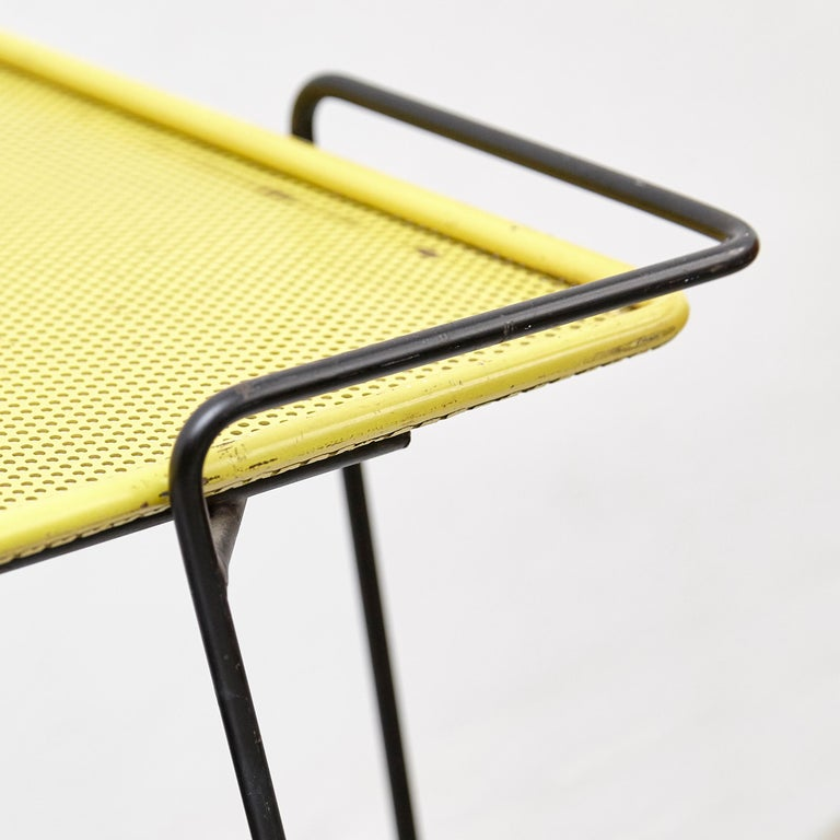 Mathieu Mategot Yellow and Black Trolley, circa 1950 For Sale 2