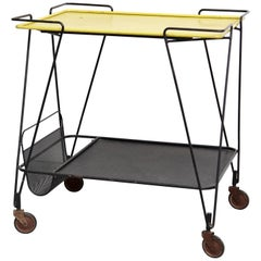 Mathieu Mategot Yellow and Black Trolley, circa 1950