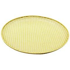 Mathieu Matégot Yellow Enameled Metal Plate, circa 1950