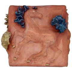 Mathilde Schaefer Modern Studio Pot with Horse Motif