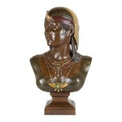 Cesar Ceribelli bronze bust of Cleopatra