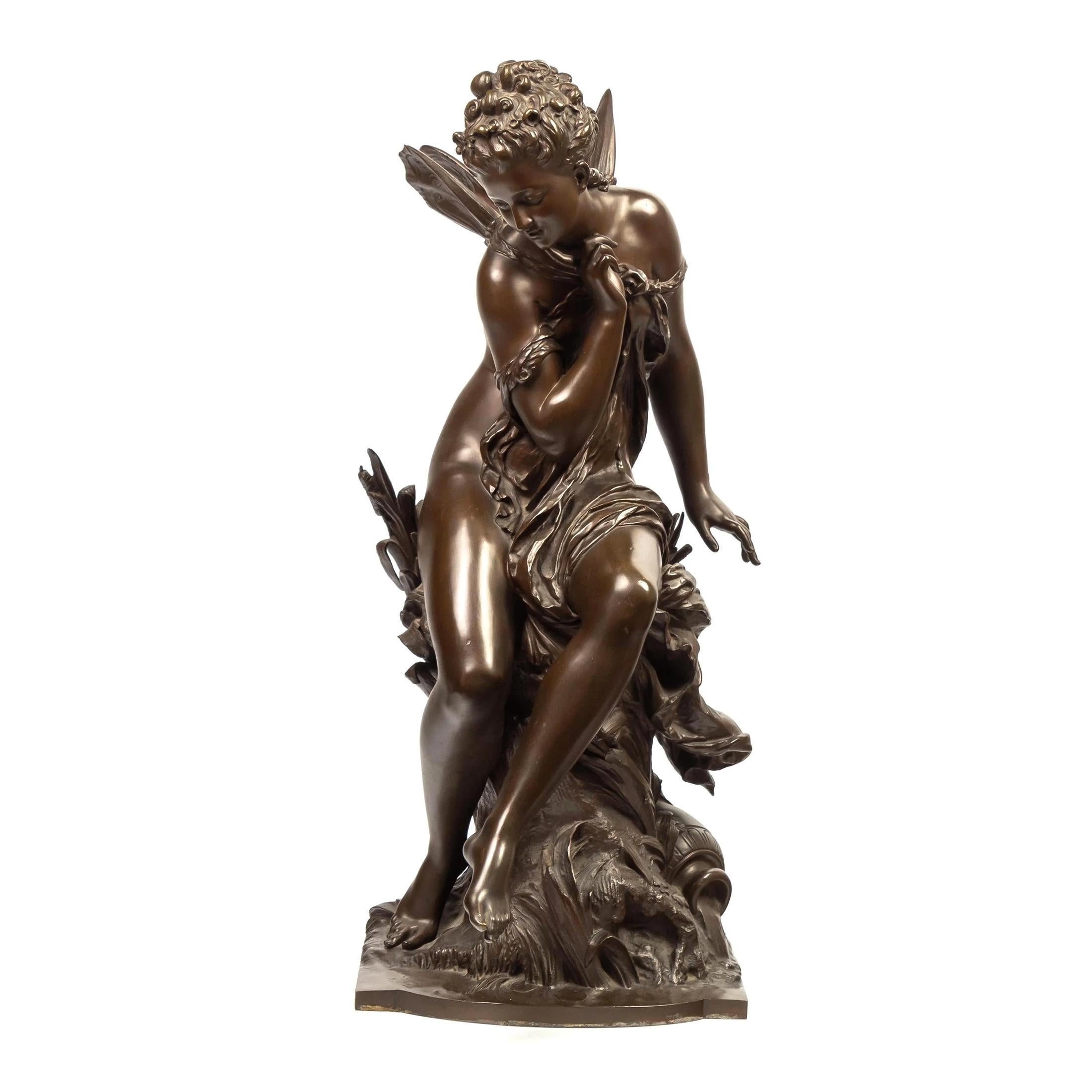Mathurin Moreau Bronze Allegorical Sculpture