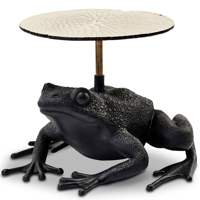 The Matilda frog side table embodies the playful spirit often evident in the works of Egg Designs. Inspired by the plight of the endangered cape flats frog they decided to create a piece of furniture that would keep the frog ever present in their