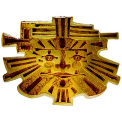 "Matius Spectacular French Midcentury ""Inca"" Wall Light, 1977"