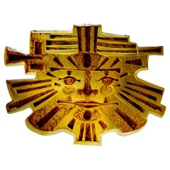 """Matius Spectacular French Midcentury """"Inca"""" Wall Light, 1977"""
