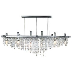 Matrix Crystal Linear Suspension Modern Chandelier