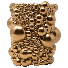 Matrix Spheres Vase Dark Gold