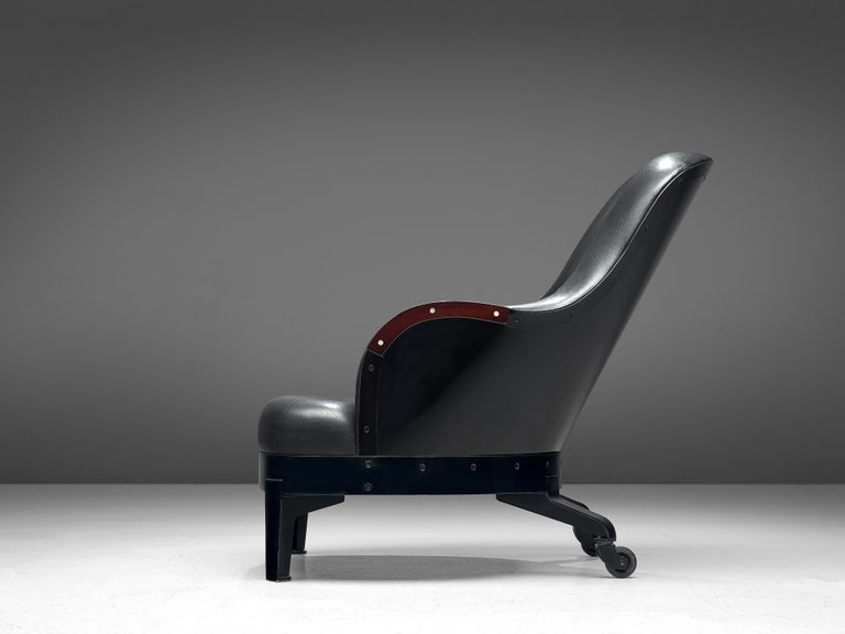 Swedish Mats Theselius for Källemo 'The Ritz' Lounge Chair in Black Leather For Sale