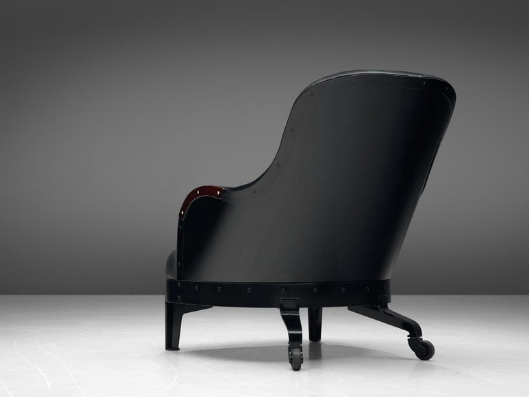 Late 20th Century Mats Theselius for Källemo 'The Ritz' Lounge Chair in Black Leather For Sale