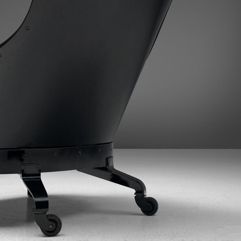 Mats Theselius for Källemo 'The Ritz' Lounge Chair in Black Leather For Sale 1
