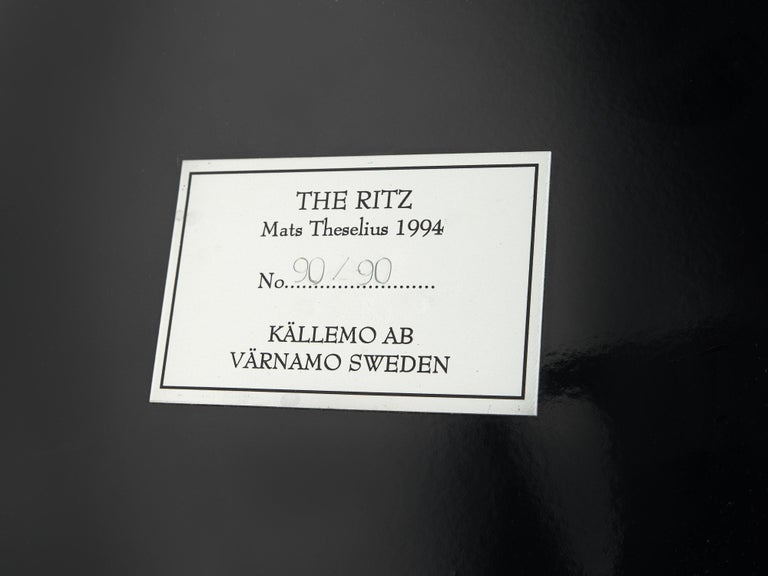 Mats Theselius for Källemo 'The Ritz' Lounge Chair in Black Leather For Sale 2