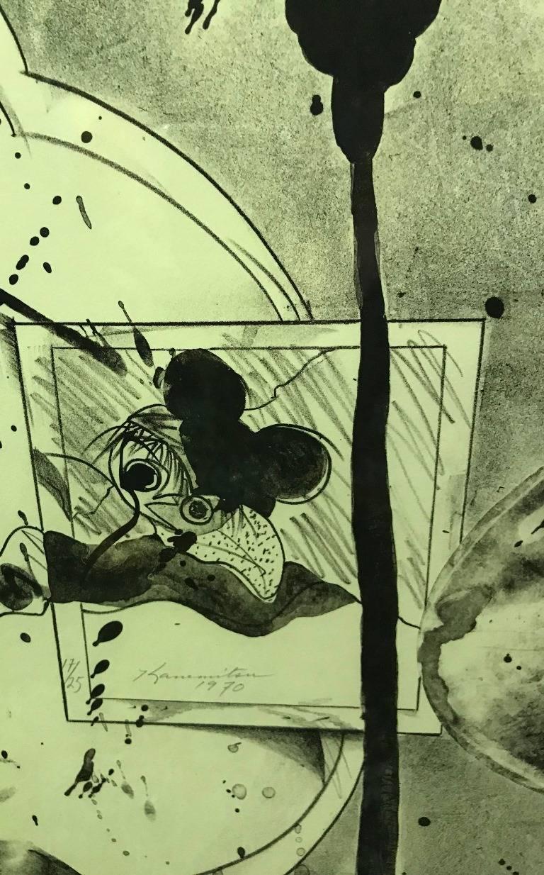 Late 20th Century Matsumi Kanemitsu Limited Edition Lithograph Print