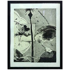 """Matsumi Kanemitsu Limited Edition Signed Lithograph Print """"Hollywood Hills Ghost"""
