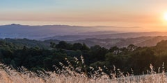 Sunset Over Valley - Photograph of California Valley Sunset with Hills + Clouds
