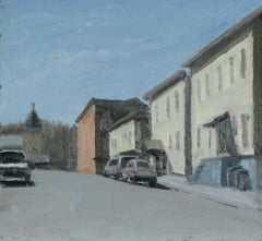 Howard St., Cohoes (En Plein Air Cityscape Painting, Framed)
