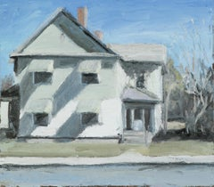 Route 4, Schuylerville, NY (En Plein Air Cityscape Painting of White House)