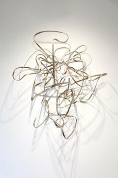 1984 #12, Matt Devine, Steel, (Indoor Wall Sculpture) Abstract Metallic Gold