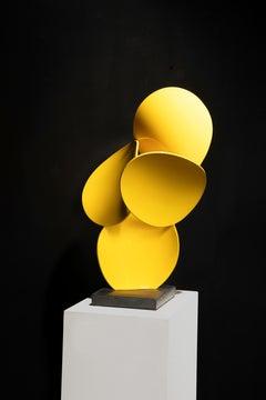 a x b #3, Matt Devine (yellow freestanding sculpture, Indoor/Outdoor Sculpture)